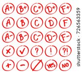 grade results. hand drawn... | Shutterstock .eps vector #726563359