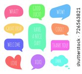 speech bubbles with different... | Shutterstock .eps vector #726563821