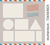 blank postage stamps set.... | Shutterstock .eps vector #726565825