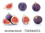 fresh figs isolated on white... | Shutterstock . vector #726566521
