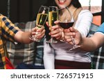 people cheers celebration with... | Shutterstock . vector #726571915