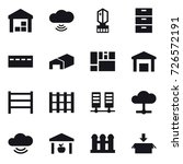 16 vector icon set   warehouse  ... | Shutterstock .eps vector #726572191