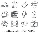 cinema pixel perfect icons set... | Shutterstock .eps vector #726572365