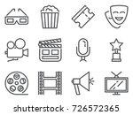 cinema pixel perfect icons set... | Shutterstock .eps vector #726572365