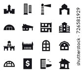 16 vector icon set   castle ... | Shutterstock .eps vector #726581929
