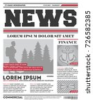 daily news tabloid vector... | Shutterstock .eps vector #726582385
