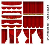 theather red blind curtain... | Shutterstock .eps vector #726585655