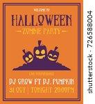 poster style halloween theme... | Shutterstock .eps vector #726588004