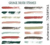 modern watercolor daubs set ... | Shutterstock .eps vector #726589561