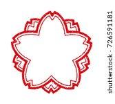 cherry blossom stamp frame  | Shutterstock .eps vector #726591181