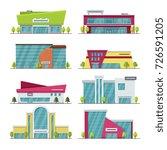 shopping center  mall and... | Shutterstock .eps vector #726591205