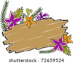 retro tropical driftwood floral ... | Shutterstock .eps vector #72659524