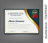 creative certificate of... | Shutterstock .eps vector #726595447