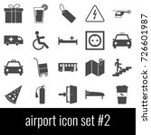 airport. icon set 2. gray icon... | Shutterstock .eps vector #726601987
