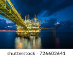 offshore oil and gas processing ... | Shutterstock . vector #726602641