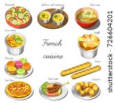french cuisine icons for...   Shutterstock .eps vector #726604201