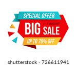 big sale banner  special offer  ... | Shutterstock .eps vector #726611941