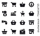 16 vector icon set   shop  cart ... | Shutterstock .eps vector #726616735