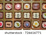 chocolate sweets and candies... | Shutterstock . vector #726616771