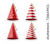 party hat birthday decoration.... | Shutterstock .eps vector #726619411