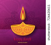 greeting card for diwali... | Shutterstock .eps vector #726620611