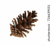 christmas pine cone isolated on ... | Shutterstock . vector #726639031