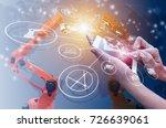 industry 4.0 concept ... | Shutterstock . vector #726639061
