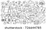 autumn. set of doodle. sketch... | Shutterstock . vector #726644785