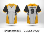 yellow and black layout... | Shutterstock .eps vector #726653929