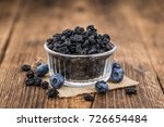 dried blueberries as high... | Shutterstock . vector #726654484