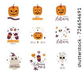 vector hand drawn illustrations ... | Shutterstock .eps vector #726654691