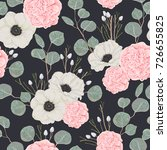 seamless pattern with pink... | Shutterstock .eps vector #726655825