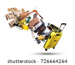 clothing and accessories out of ... | Shutterstock . vector #726664264