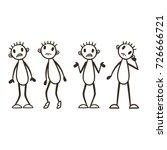 stick figure vector set  ... | Shutterstock .eps vector #726666721