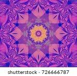beautiful golden kaleidoscope... | Shutterstock . vector #726666787