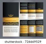 brochure elegant design  vector ...   Shutterstock .eps vector #726669529