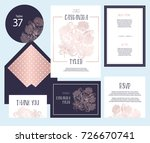 set of templates  for wedding... | Shutterstock .eps vector #726670741