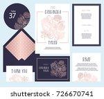 set of templates  for wedding... | Shutterstock .eps vector #726670741