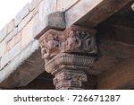 hindu temple pillar at qutub... | Shutterstock . vector #726671287