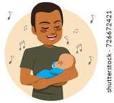 young happy african american... | Shutterstock .eps vector #726672421