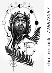 scientist tattoo and t shirt...   Shutterstock .eps vector #726673597