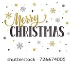 merry christmas postcard... | Shutterstock . vector #726674005