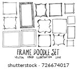 hand drawn frame isolated.... | Shutterstock .eps vector #726674017