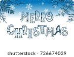 merry christmas postcard... | Shutterstock . vector #726674029