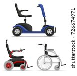 wheelchair for disabled people... | Shutterstock .eps vector #726674971
