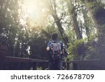 man traveling and walking in... | Shutterstock . vector #726678709