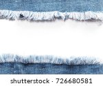 edge frame of blue denim jeans... | Shutterstock . vector #726680581