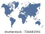 blue world map | Shutterstock .eps vector #726681541