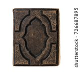 old blank book isolated on... | Shutterstock . vector #726687895