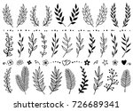 set of hand draw tree branches  ... | Shutterstock .eps vector #726689341